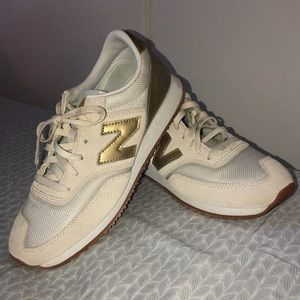 New Balance Sneakers -Gold Accents